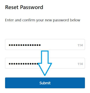 Reset Password submit